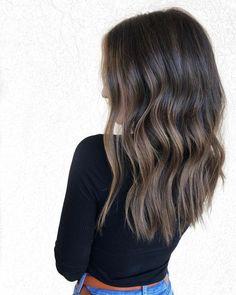 Dark Brunette Hair, Brown Blonde Hair, Black Hair, Medium Brunette Hair, Hair Medium, Hair Styles Brunette, Long Brunette Hairstyles, Highlights For Brunettes, Hair Ideas For Brunettes