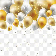 Um balão de Ouro moldura de prata