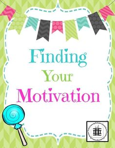 This is an interactive activity for middle and high school students to help them figure out what motivates them. This is also fantastic to get them re-motivated at time of the year!