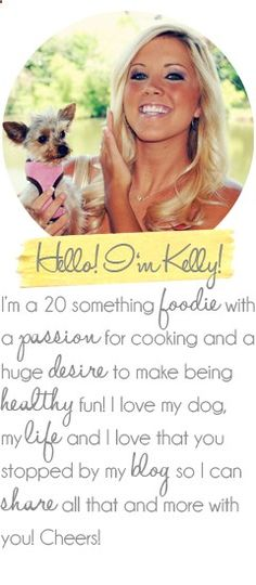 Eat yourself skinny! - This is a fun and healthy blog with tons of delicious recipes... and she is as obsessed with her dog as I am of mine!