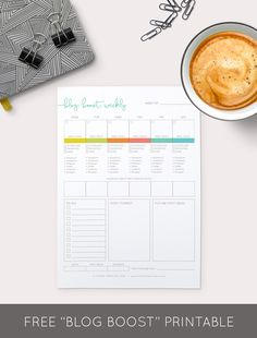 Download Your Free Printable Blog Boost Weekly Worksheet | Think Creative