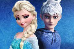elsa deviantart | Elsa and Jack Frost V1 by JonFArnold