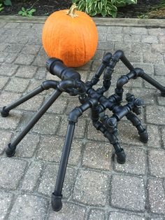 A personal favorite from my Etsy shop https://www.etsy.com/listing/467869864/giant-halloween-industrial-pipe-spider