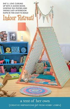 Casa cabana de tecido dia das crianças                              …