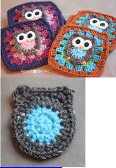 Owl Granny Square Crochet Pattern | Scribd - Phone isn't loading to verify pattern... but I'm sure I could make this!