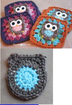 Owl Granny Square Crochet Pattern | Scribd