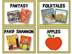Free Book Bin Labels for Classroom Library (editable)