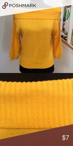 b3d619bc85cc Cute vintage off the shoulder sweater - Yellow Parting with another off the  shoulder sweater!