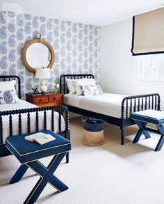 A nautical cottage bedroom {PHOTO: Stacey Brandford}