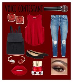 """""""Untitled #35"""" by gracief-9 on Polyvore featuring Madewell, J Brand, ESCADA, Lime Crime, Gas Bijoux, Smith & Cult, Kate Spade, thevoice and YahooView"""