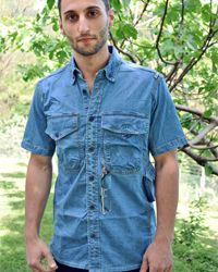 Organic Denim shirt only at Proto X type! Clothing Company, Denim Shirt, Button Down Shirt, Men Casual, Organic, Type, Mens Tops, Shirts, Clothes