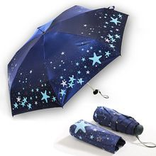 NEW Ultra-light Umbrella Rain Women Anti-UV Mini Five-folding Umbrella Pocket Parasol Sunny and Rainy Umbrella(China)