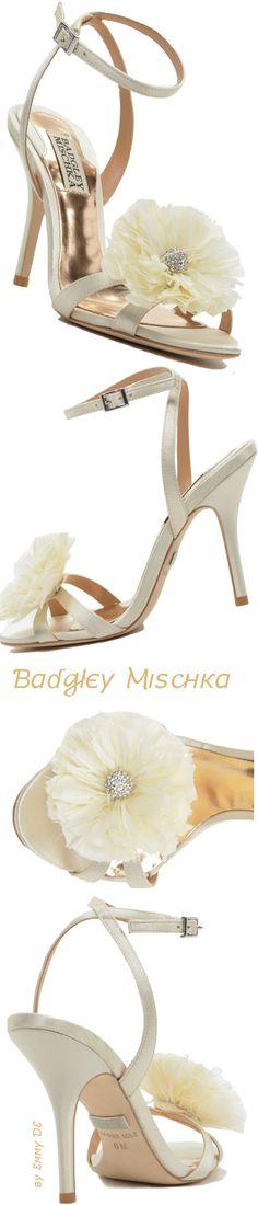 Badgley Mischka Karol Feather Adorned Evening Shoe     my sexy shoes2
