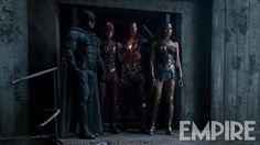 ATUALIZADO em 24/01/2017com nova foto de Batman (Ben Affleck), Flash (Ezra Miller), Cyborg (Ray Fisher) e Mulher-Maravilha (Gal Gadot), divulgada pela Empire: