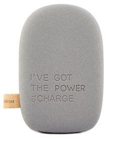KREAFUNK To Charge Powerbank Ladegerät One Size dunkelgrau