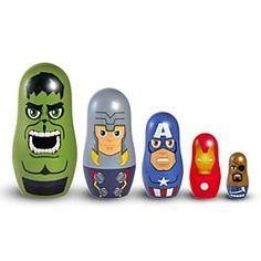The Avengers Nesting Doll Set | Marvel |The Avengers Nesting Doll Set - The best teams work together as one. In this Avengers Nesting Doll Set, the five Marvel Super Heroes fit together perfectly, one inside the other, to create one formidable powerhouse that is ready to save the universe.