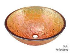 "Picture of 17"" Borosilicate Glass Vessel Bathroom Sink"
