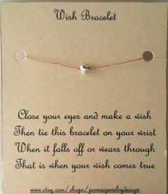 wish bracelet ... cute present for friends