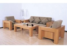 Wooden Living Room Furniture Chairs Solid Wood