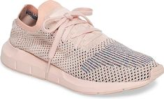 4b92daa41cb7e9 Women s Adidas Swift Run Primeknit Training Shoe in Icey Pink. Flecks of  color peak within