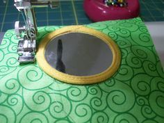 Tips for attaching a mirror to a quiet book page