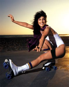 Cher, 1979. #CelebrateSparkle (and bring back those white roller skates!)