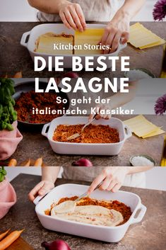 Lasagne wie beim Italiener: So machst du den Klassiker zu Hause Step by step to the perfect lasagna! Delicious # Classic Italian style lasagna - easy to imitate! You can find all the Easy Healthy Recipes, Paleo Recipes, Soup Recipes, Easy Meals, Paleo Food, Paleo Diet, Healthy Meals, Bolognese, Dessert Banana Split