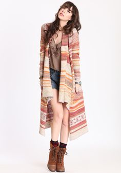long cardigan in rust by free people