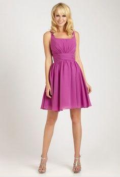 Discount Chiffon Square A-Line Short/Long Bridesmaid Dress Free Measurement