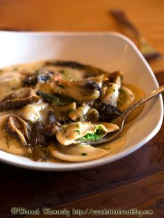 Yummy blog post recap from Hannah @Erin B This English Pea Ravioli with Morels from Portobello Trattoria in Portland Oregon was as good as it looks here.