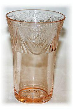 Royal Lace Tumbler, Hazel Atlas Co. Pink depression glass