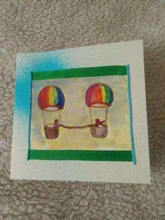 kartka okolicznościowa, dwa połączone baloniki