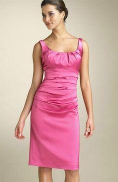Pinks Sheath Satin Knee-length Bridesmaid #Dress $79
