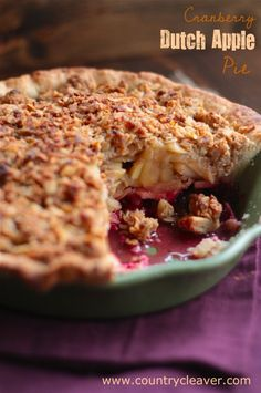 Cranberry Dutch Apple Pie