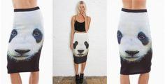 Panda Face Pencil Skirt | toAdorn.com #panda #pencil #skirt #toadorn