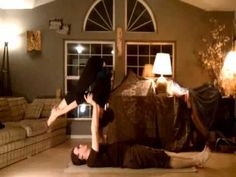 Jacob was one of the first people that inspired me to get better at acroyoga.  He and his partner Jessica have a nice fluid style that I relate to as a dancer.  Here are the moves in order of appearance along with video tutorials: