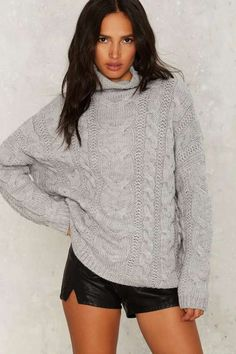 J.O.A. Ellis Cableknit Sweater