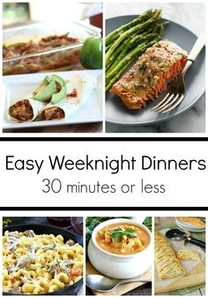 Easy Weekday Dinner Recipes is One Of the Favorite Dinner Of Many People Round the World. Besides Simple to Produce and Excellent Taste, This Easy Weekday Dinner Recipes Also Healthy Indeed. 30 Minute Dinners, Easy Weeknight Dinners, Quick Dinner Recipes, Quick Meals, Chicken Wrap Recipes, Dinner Menu, Weekday Dinner Ideas, Easy Family Meals, Family Recipes