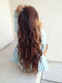 loose curls brunnete/blonde