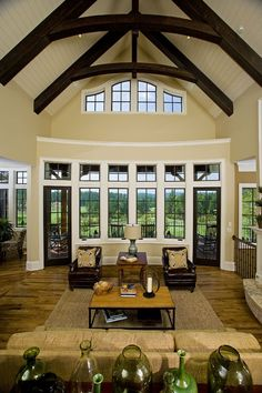 Excellent Great Room, look at those beams!
