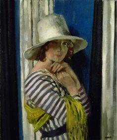 Mrs Hone in a Striped Dress, 1912 · Sir William Orpen