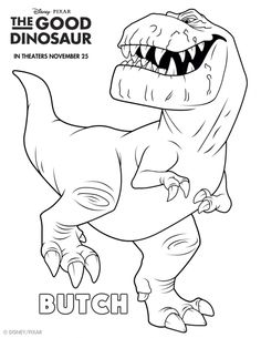 The Good Dinosaur Coloring Pages: Butch