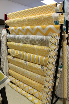 """Mustard chevron curtains    TWO Curtain Panels, 25"""" x 84"""" - 17 Fabrics to Choose From. $65.00, via Etsy."""