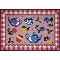 Fun Rugs Olive Kids Collection Tea Party Area Rug