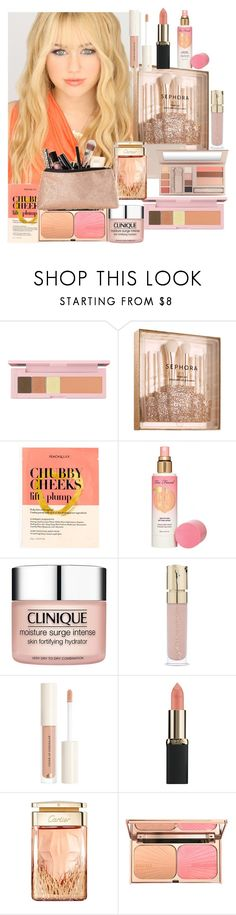 """""""She is a Peach"""" by kleoedu ❤ liked on Polyvore featuring beauty, shu uemura, Sephora Collection, J.Crew, Maybelline, Too Faced Cosmetics, Clinique, Smith & Cult, L'Oréal Paris and Cartier"""