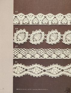 Crochet diagrams for Edgings and Trims.#crochet_inspiration GB …