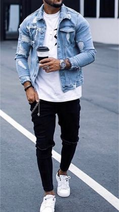 22 Really cool street style outfits! Your Shoes, Casual Shoes, Belt, Denim, Mens Fashion, Jackets, How To Wear, Style, Belts