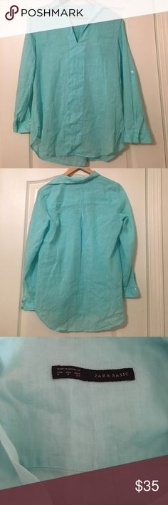 Zara Tunic Turquoise Zara Tunic. Used but in great condition! If you have any questions, please ask. :) Zara Tops Tunics
