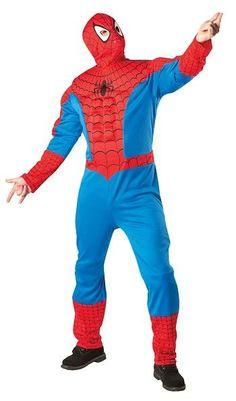 Naamiaisasu; Spiderman Deluxe  Lisensoitu Spiderman Deluxe asu. Hämähäkkimies (oikealta nimeltään Peter Benjamin Parker, engl. Spider-Man, alunperin nimeltään Martin Pike) on Marvelin sarjakuvissa esiintyvä supersankari. Hän esiintyi ensimmäisen kerran Stan Leen sekä Steve Ditkon piirtämänä Amazing Fantasy -lehden 15. numerossa vuonna 1962. #naamiaismaailma