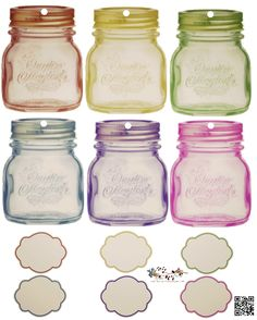 """FREE ""   Fancy Little Jar  Tags with Labels"